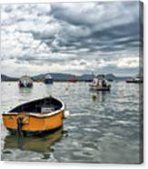 Lyme Regis Harbour - March Canvas Print