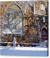 Lynn Central Congregational Church Lynn Ma Winter Canvas Print