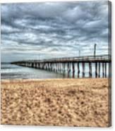 Lynnhaven Fishing Pier, Bay Side Canvas Print