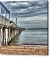 Lynnhaven Fishing Pier, Ocean Side Canvas Print