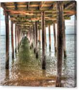 Lynnhaven Fishing Pier, Pillars To The Sea Canvas Print