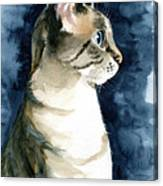 Lynx Point Cat Portrait Canvas Print