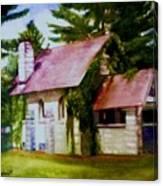 Lyons Falls Church Canvas Print