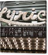 Lyric Theater Birmingham Canvas Print