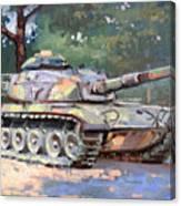 M60 A3 Desert Storm Tank- Plein Air Canvas Print