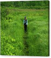Ma At Section Hiker Canvas Print