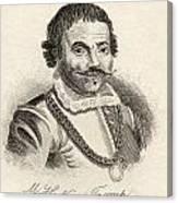 Maarten Harpertszoon Tromp 1598 - 1653 Canvas Print
