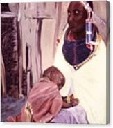 Maasai Woman And Child Canvas Print