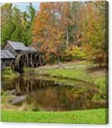 Mabry Mill In Fall 1 Canvas Print