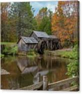 Mabry Mill In Fall 2 Canvas Print