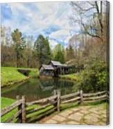 Mabry Mill In The Spring Canvas Print