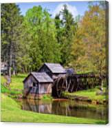 Mabry Mill In The Springtime On The Blue Ridge Parkway  Canvas Print