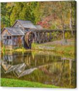 Mabry Mill Reflections Canvas Print
