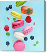 Falling In Love With Macaroons  Canvas Print