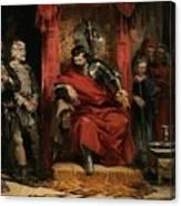 Macbeth Instructing The Murderers Employed To Kill Banquo Canvas Print