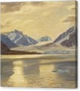 Macco, Georg 1863 Aachen - 1933   Glacier On Spitsbergen Canvas Print