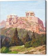 Macco, Georg 1863 Aachen - 1933   The Acropolis Of Athens. Canvas Print