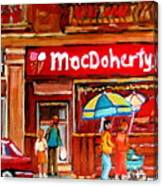 Macdohertys Icecream Parlor Canvas Print