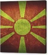 Macedonia Distressed Flag Dehner Canvas Print