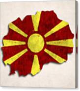 Macedonia Map Art With Flag Design Canvas Print