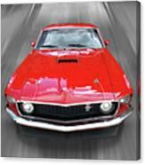 Mach1 Mustang 1969 Head On Canvas Print