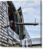 Machine Gun Wwii Aircraft Color Canvas Print