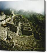 Machu Picchu In The Fog Canvas Print