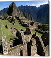 Machu Picchu Residential Sector Canvas Print