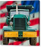 Mack Dump Truck Canvas Print