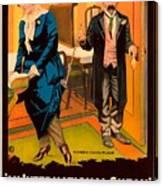 Mack Sennett Comedy - An International Sneak 1917 Canvas Print