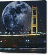 Mackinac Bridge Fantasy Canvas Print