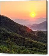 Macon County North Carolina Mountains Canvas Print