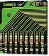 Macro Image Of A Computer Motherboard Canvas Print