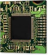 Macro Image Of A Hard Disk Controller Canvas Print