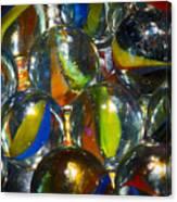 Macro Marbles Canvas Print