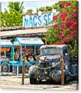 Mac's Sea Garden II On Key West Florida Canvas Print
