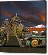 Mad Max Creater Motorcycle Canvas Print