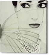 Madam Butterfly - Maria Callas  Canvas Print
