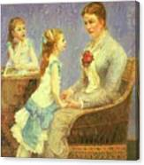 Madame Bouchet Et Ses Filles Canvas Print