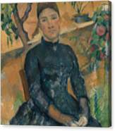 Madame Cezanne In The Conservatory Canvas Print