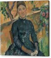Madame Czanne Hortense Fiquet 18501922 In The Conservatory Canvas Print