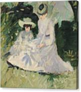 Madame Helleu And Her Daughter At The Chateau Of Boudran Canvas Print