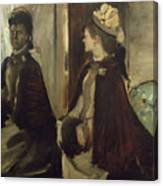 Madame Jeantaud In The Mirror Canvas Print