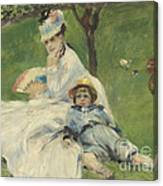 Madame Monet And Her Son Canvas Print