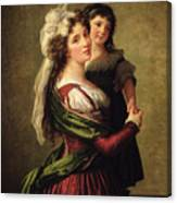 Madame Rousseau And Her Daughter Canvas Print