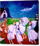Madeleine's Red Shoes Canvas Print