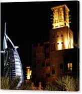 Madinat And Burj Al Arab Hotels Canvas Print