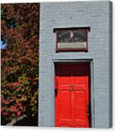 Madison Red Fire House Door Canvas Print