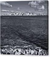 Madison Skyline - Black And White Canvas Print