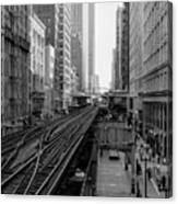 Madison St - Wabash Station - Chicago Loop Canvas Print